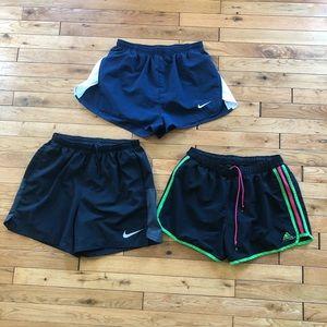 Athletic Short Bundle - 2 Nike 1 Adidas Medium